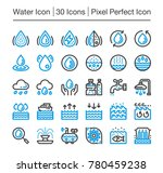 water line icon editable stroke ... | Shutterstock .eps vector #780459238