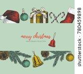 merry christmas illustration.    Shutterstock .eps vector #780459898