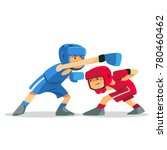 boxing among children. kids... | Shutterstock .eps vector #780460462