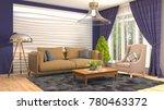 interior living room. 3d...   Shutterstock . vector #780463372