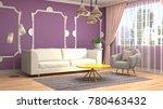 interior living room. 3d...   Shutterstock . vector #780463432