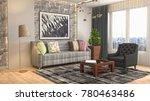 interior living room. 3d...   Shutterstock . vector #780463486