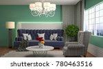 interior living room. 3d...   Shutterstock . vector #780463516