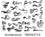 calligraphic design elements.... | Shutterstock . vector #780465715
