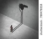 female whistleblower and... | Shutterstock . vector #780478318