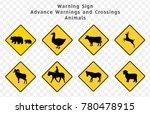 Road Sign. Warning. Advance...