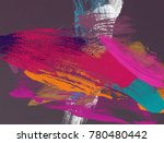 oil painting on canvas handmade....   Shutterstock . vector #780480442