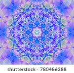 abstract decorative blue... | Shutterstock . vector #780486388