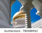 Small photo of BANDAR SERI BEGAWAN(BSB), BRUNEI-OCTOBER. 11: Golden Dome of Masjid Sultan Omar Ali Saifuddin Mosque, Brunei Darussalam October 11, 2017.