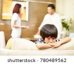 asian child appears sad and... | Shutterstock . vector #780489562