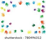 hands border  palms frame... | Shutterstock .eps vector #780496312