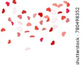 heart confetti beautifully... | Shutterstock .eps vector #780498352