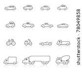 icons set vehicles | Shutterstock .eps vector #78049858