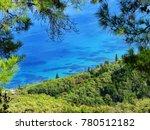 blue lagoon beach coast in the... | Shutterstock . vector #780512182