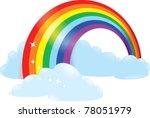 rainbow | Shutterstock .eps vector #78051979