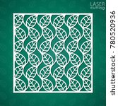 laser cut square ornamental... | Shutterstock .eps vector #780520936