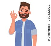 man is showing a gesture okay ... | Shutterstock .eps vector #780522022