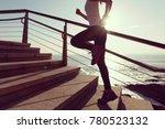 sporty female runner running... | Shutterstock . vector #780523132