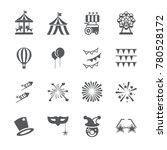 carnival icon set | Shutterstock .eps vector #780528172