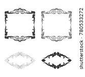 classical baroque vector set of ... | Shutterstock .eps vector #780533272