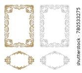 classical baroque vector set of ...   Shutterstock .eps vector #780533275