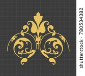 vintage baroque ornament. retro ... | Shutterstock .eps vector #780534382