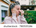 sinus ache causing very... | Shutterstock . vector #780535186