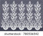 vector lace pattern on the grid.... | Shutterstock .eps vector #780536542