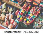 colorful moroccan shoes... | Shutterstock . vector #780537202
