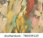 oil painting on canvas handmade.... | Shutterstock . vector #780539125