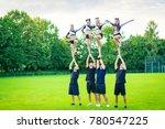 cheerleader team practicing   Shutterstock . vector #780547225