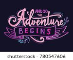 and so the adventure begins.... | Shutterstock .eps vector #780547606