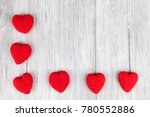red hearts frame background | Shutterstock . vector #780552886