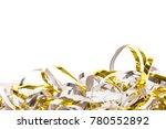streamer isolated on white | Shutterstock . vector #780552892