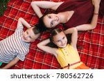 happy family rest picnic nature ... | Shutterstock . vector #780562726