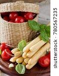 bread sticks with rosemary ...   Shutterstock . vector #780567235