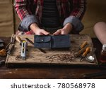 working process of the leather... | Shutterstock . vector #780568978