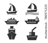 boat and ship icons set. vector ...   Shutterstock .eps vector #780571225