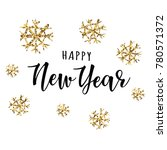 happy new year  lettering... | Shutterstock .eps vector #780571372