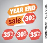 year end sale 30  35  off... | Shutterstock .eps vector #780579286