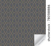 vector linear geometric pattern.... | Shutterstock .eps vector #780588886