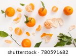 fresh tangerines with leaves... | Shutterstock . vector #780591682