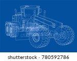 road grader. vector rendering... | Shutterstock .eps vector #780592786