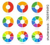 circle segments set. geometry... | Shutterstock .eps vector #780595492