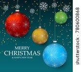 christmas light vector... | Shutterstock .eps vector #780600868