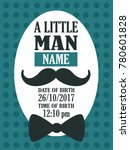 baby boy shower card. colorful... | Shutterstock .eps vector #780601828