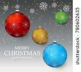 christmas light vector... | Shutterstock .eps vector #780602635
