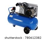 blue compressor isolated on a... | Shutterstock . vector #780612382