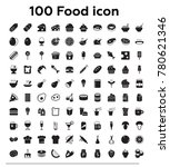 100 food and drink black vector ... | Shutterstock .eps vector #780621346