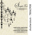 luxury chandelier on floral... | Shutterstock .eps vector #78062908